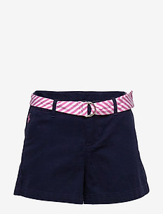 Belted Cotton Chino Short - FRENCH NAVY
