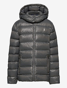 Water-Repellent Down Jacket - puffer & padded - magnum grey