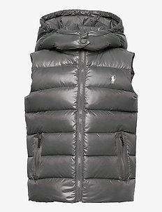 POLY PLAINWEAVE-CHANNEL VEST-OW-VST - vests - magnum grey