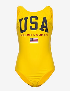 USA One-Piece Swimsuit - LEMON RIND