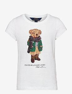 Cardigan Bear Jersey Tee - short-sleeved - white