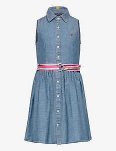 Cotton Chambray Shirtdress - dresses - indigo