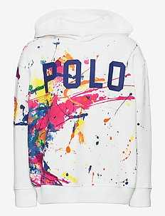 Paint-Splatter Fleece Hoodie - pulls à capuche - white multi