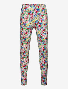 Floral Stretch Jersey Legging - leggings - red multi
