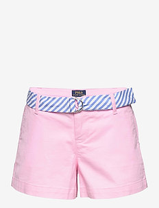 Belted Stretch Chino Short - shorts - carmel pink