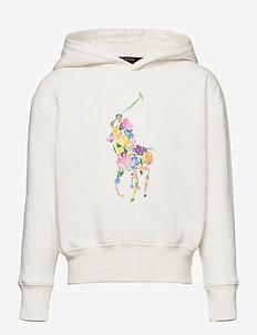 Floral-Pony Fleece Hoodie - pulls à capuche - trophy cream