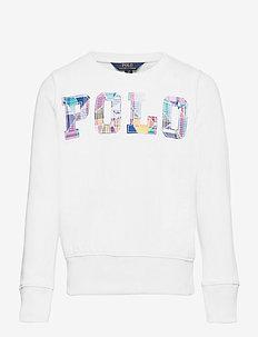 Logo Cotton Fleece Sweatshirt - sweatshirts - white
