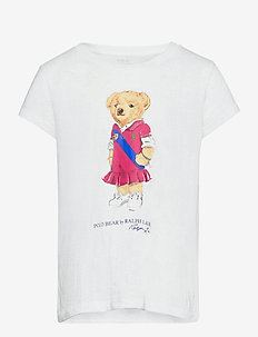 Polo Bear Cotton Jersey Tee - short-sleeved - white