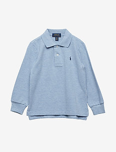 Cotton Mesh Polo Shirt - NEW POWDER BLUE H