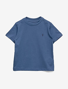 Cotton Jersey Crewneck Tee - FEDERAL BLUE