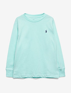 Cotton Jersey Long-Sleeve Tee - ISLAND AQUA