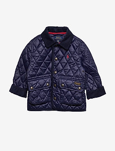 Water-Resistant Quilted Jacket - FRENCH NAVY