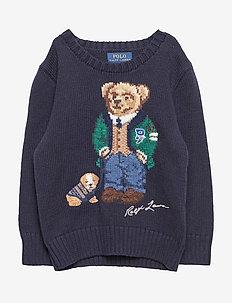 Polo Bear Cotton-Wool Sweater - RL NAVY