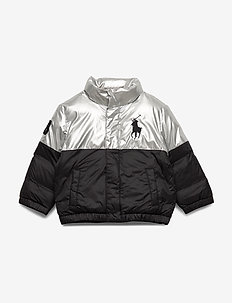 Polo Bear Foil Down Jacket - SILVER / BLACK