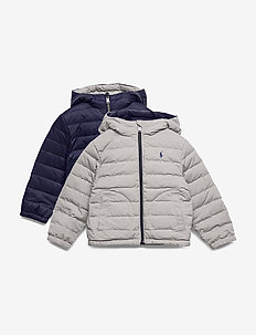 Reversible Quilted Down Jacket - FRENCH NAVY/GREY