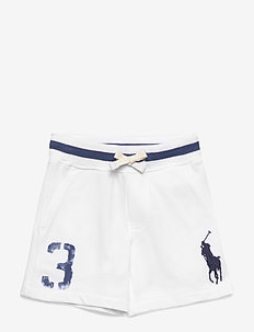 Big Pony Cotton Mesh Short - WHITE