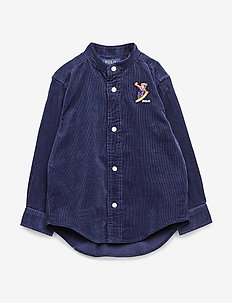 Snowboard Bear Corduroy Shirt - FRENCH NAVY
