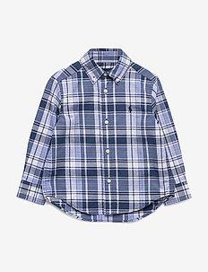 Plaid Cotton Poplin Shirt - BLUE/WHITE