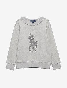 Cotton-Blend Sweatshirt - LIGHT GREY HEATHE