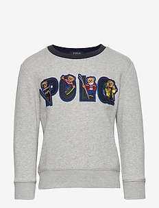 Ski Bear Fleece Sweatshirt - ANDOVER HEATHER