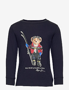 Ski Bear Cotton Jersey Tee - FRENCH NAVY