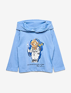 Beach Bear Hooded Tee - FALL BLUE