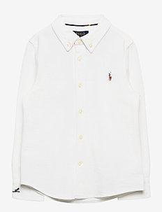 Knit Cotton Oxford Shirt - skjorter - white