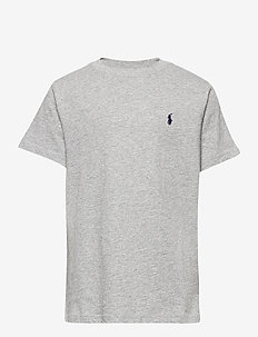 Cotton Jersey Crewneck Tee - short-sleeved - andover heather