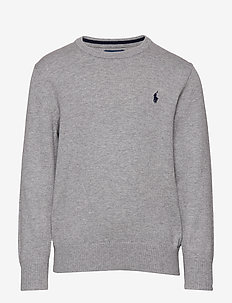 Cotton Crewneck Sweater - dzianinowe - andover heather