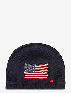 COMBED COTTON-FLAG HAT-AC-HAT - hats - hunter navy