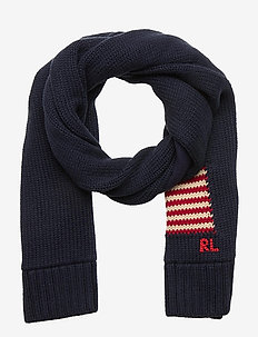 COMBED COTTON-FLAG SCARF-AC-SCF - winter clothing - hunter navy