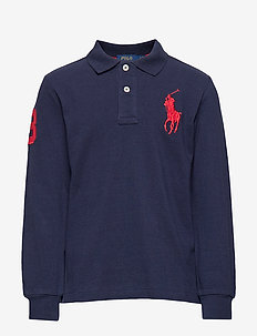 Cotton Mesh Polo Shirt - FRENCH NAVY