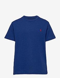 Cotton Jersey Crewneck Tee - À manches courtes - sistine blue