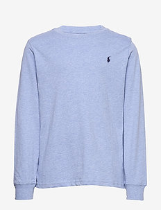 Cotton Jersey Long-Sleeve Tee - COBALT HEATHER