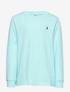 Cotton Jersey Long-Sleeve Tee - sweatshirts - island aqua