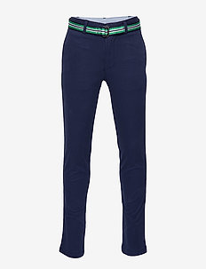 STRTCH TISSUE CHINO-BELTED PANT-BT- - NEWPORT NAVY