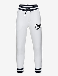 Double-Knit Logo Jogger - WHITE