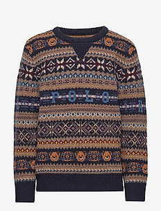Bear Fair Isle Sweater - RL NAVY MULTI