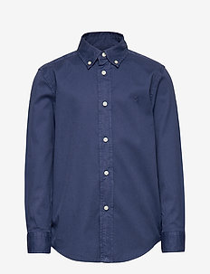 Garment-Dyed Twill Shirt - LIGHT NAVY
