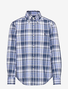 Plaid Cotton Twill Workshirt - BLUE/WHITE