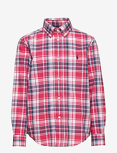 Plaid Cotton Twill Workshirt - RED/WHITE