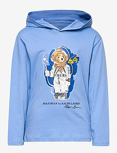 Beach Bear Hooded Tee - FALL BLUE