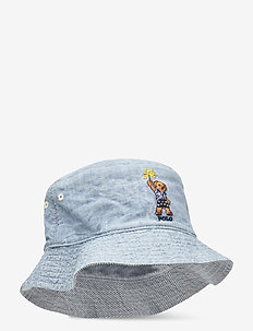 Reversible Cotton Bucket Hat - sun hats - chambray