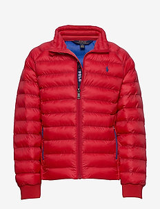 Packable Quilted Jacket - puffer & padded - rl 2000 red