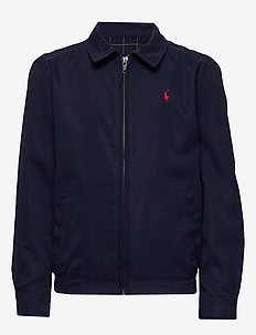 Water-Resistant Twill Jacket - bomber jackets - newport navy