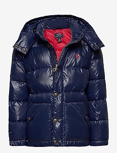 Water-Repellent Down Jacket - puffer & padded - cruise navy