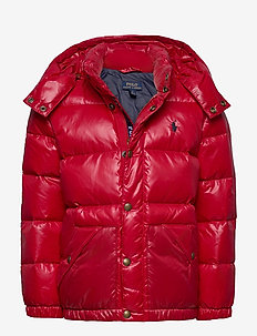Water-Repellent Down Jacket - puffer & padded - rl 2000 red