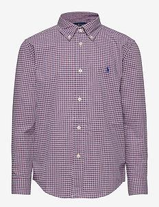 NATURAL STRETCH POP-LS BD-TP-SHT - chemises - red/blue
