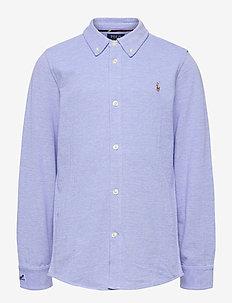OXFORD MESH-LS BD-TP-KNT - chemises - harbor island blu