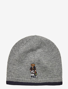 Backpack Bear Wool-Cotton Hat - hats - league heather